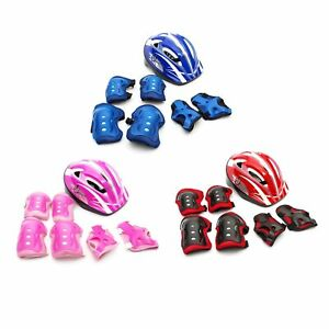 Protective Boys / Girls Cycling Bike Kids Safety Helmet & Pads 5-12 Year Bicycle