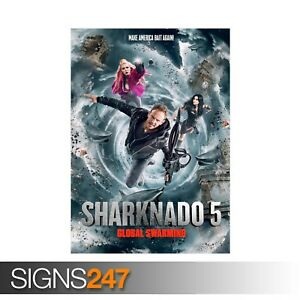 SHARKNADO-5-GLOBAL-SWARMING-ZZ046-MOVIE-POSTER-Poster-Print-Art-A0-A1-A2-A3