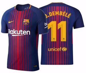 2484250abdb NIKE O. DEMBELE FC BARCELONA AUTHENTIC VAPOR MATCH HOME JERSEY 2017 ...