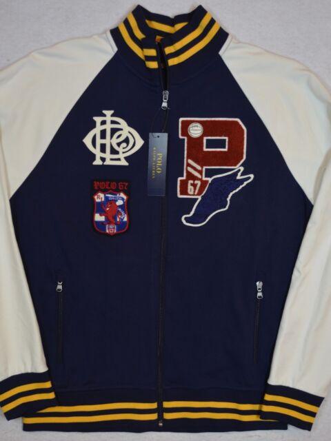 0cdfd8f73c Polo Ralph Lauren P Wing Cotton Patch Varsity Interlock Track Jacket XL  Stadium
