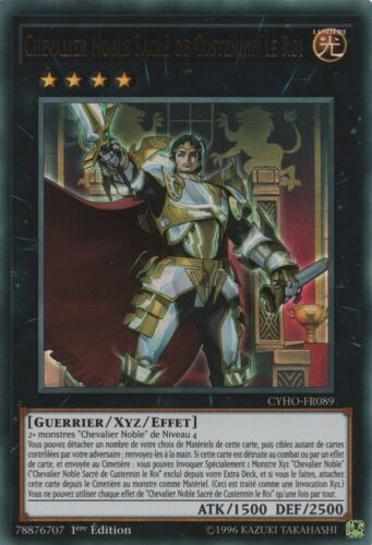 CYHO-FR089 Yu-Gi-Oh Chevalier Noble Sacré de Custennin le Roi VF//Ultra