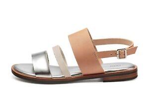 molto carino 79e0f 7cb26 Frau scarpe donna sandali 85N2 miele/silver PE19 | eBay