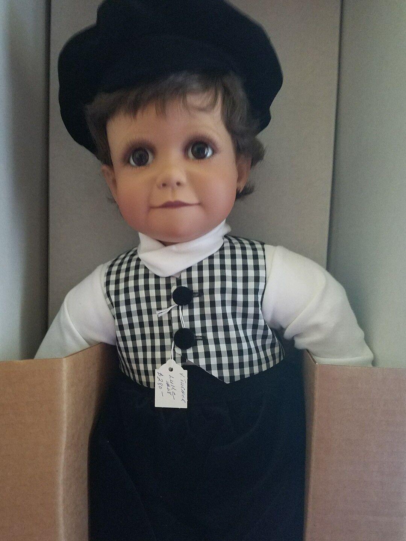 Energetic Ute Kase Lepp Porzellan Puppe 57 Cm Dolls Art Dolls-ooak Top Zustand