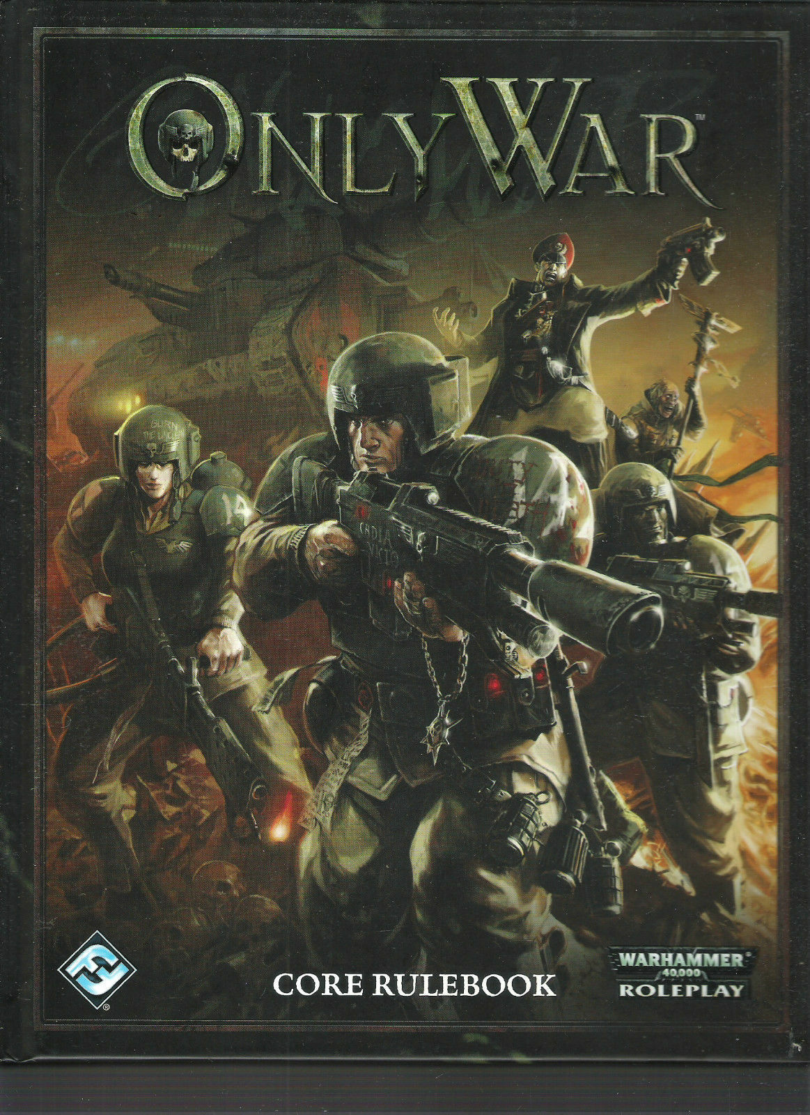 WARHAMMER 40,000 ONLY WAR WAR WAR CORE RULES  RPG VGC HB HC VGC cd17cd