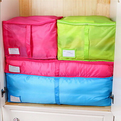 3size Clothes Quilt Bedding Duvet Zipped Handles Laundry Pillows Storage Bag Box