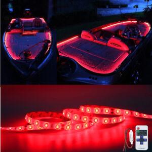 Details About Red Led Boat Light Deck Waterproof 12v Bow Trailer Pontoon Lights Kit Marine