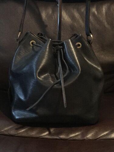 Louis Vuitton Black Epi Petit Noe GM Bucket Bag AR