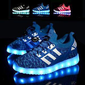 DEL-Pour-Enfants-Garcons-Filles-Light-Up-Baskets-Bebe-lumineux-Chaussures-Baskets-Kids-Gift