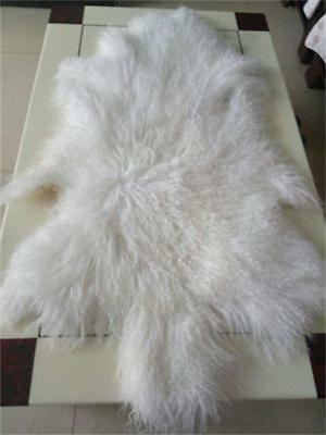 Throw Lamskin Fur Hide Pelt Curly