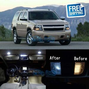 Details About 14pcs Pure White Led Lights Interior Package Kit For 2002 2006 Chevy Tahoe Gmc