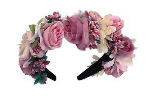Trachten Blumenkranz Haarreif Blumen Haare Haarband Haarschmuck