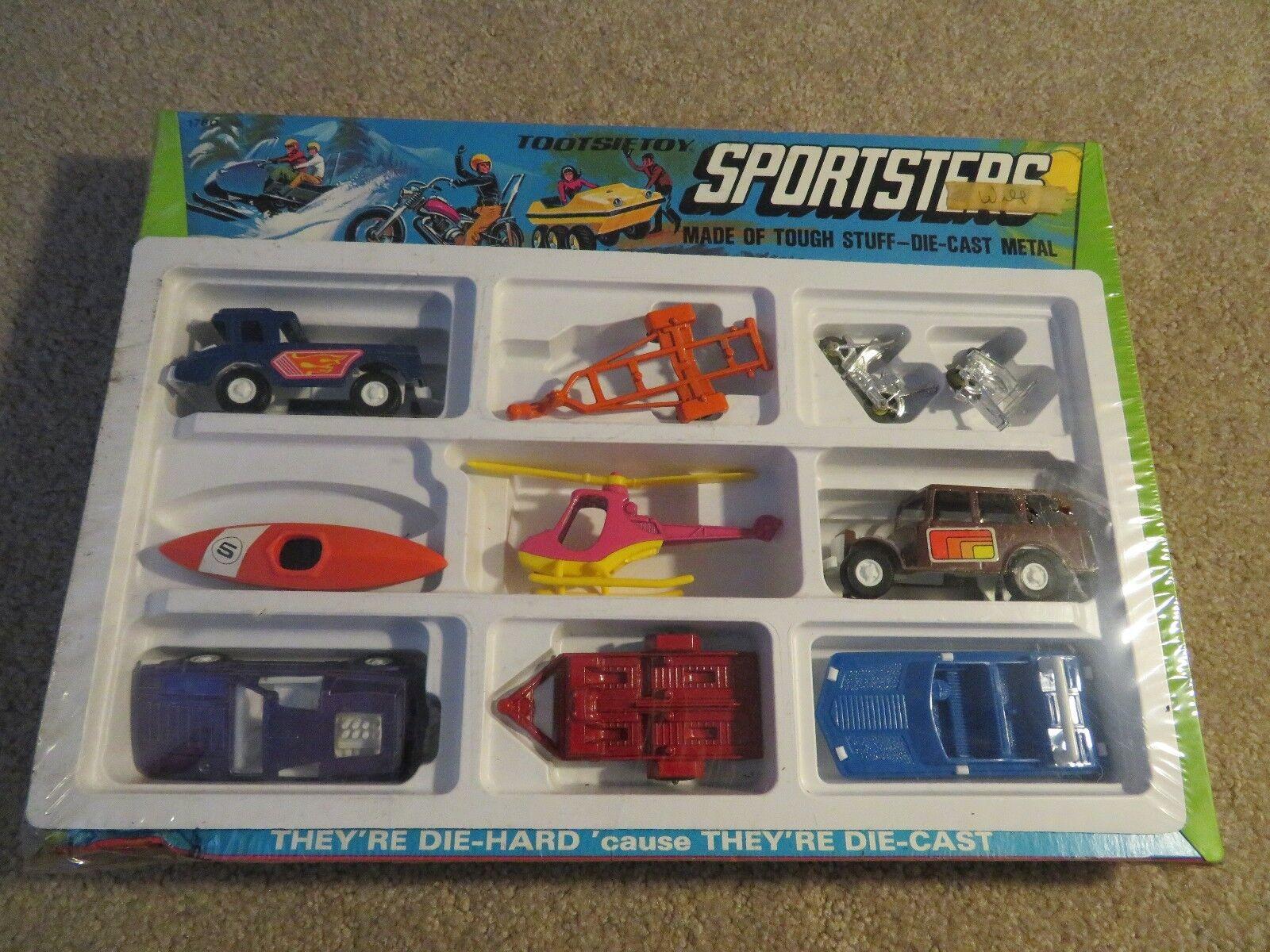Tootsietoy Sportsters Die-cast Conjunto remolques de botes Motos +++ Y En Caja Sellada 1971
