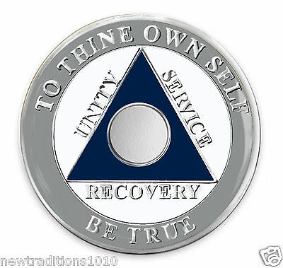 Dallas Team Colors C//T No YR AA 12 Step Recovery Medallion//Coin//Chip BRAND NEW