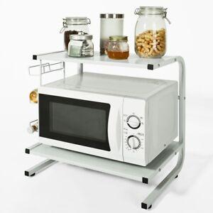Sobuy Mini-étagère Micro ondes Meuble Rangement Cuisine en bois Frg092-w FR
