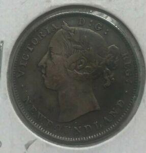 1899 Newfoundland 20 Cents - Nice Silver