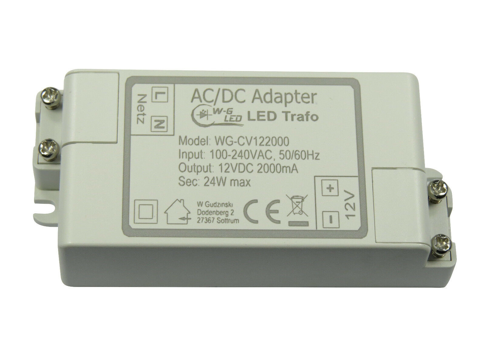 LED Trafo|24V DC|50W max|Transformator|Netzteil|2,083A