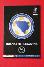 ADRENALYN ROAD TO UEFA 2016 BOSNIA I HERCEGOVINA 5 TEAM LOGO  MINT!!!!