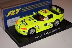 1/32 Fly A3 Dodge Viper Rent A Car N° 41 Le Mans 1994 Mb Une Gamme ComplèTe De SpéCifications