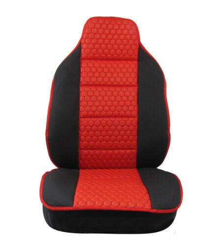 2x Sitzauflage Sitzkissen Sitzmatten Rückenkissen Rot Kunstleder+Stoff