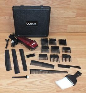 conair hc275r hair styling haircut red clipper set with case