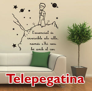 Vinilo decorativo para pared el principito 60x60 text - Vinilo el principito ...