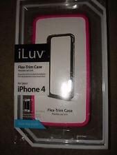 ILUV FLEX TRIM CASE PINK FOR IPHONE 4