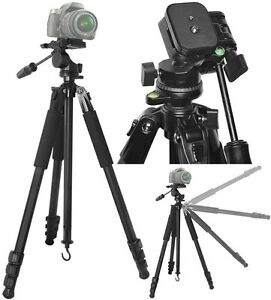 """80"""" True Professional Heavy Duty Tripod With Case For Sony DSLR-A850 SLT-A65V"""