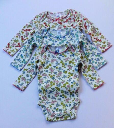 Mini Boden Bébé unique Ditsy Floral Maillots de corps body//corps à manches longues entièrement neuf sans étiquette