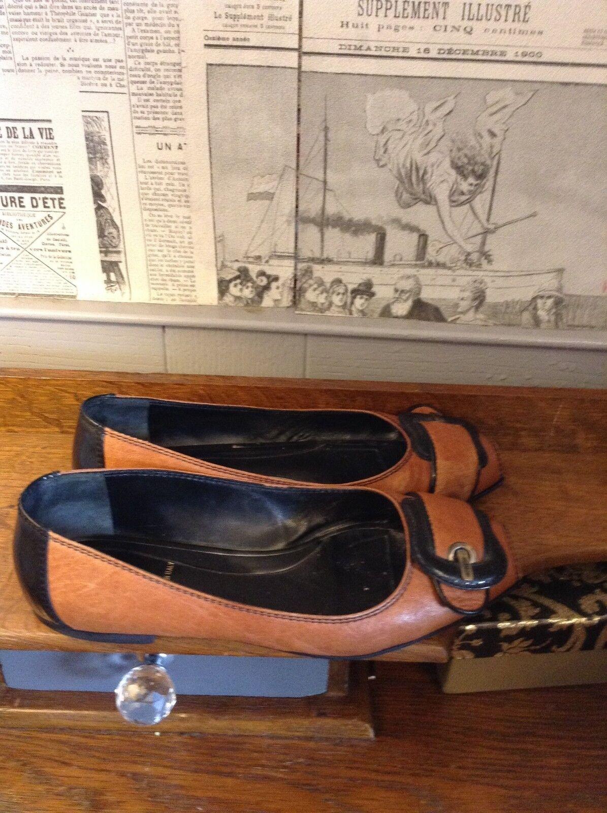 FENDI Scarpe Nero Tan Peep Toe Flats US Dolly Scarpe 38.5 EU US Flats 7.5 f2a3a2