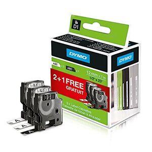 Dymo D1 Standard Labelling Tape 2 Black on White 45013 & 1 White on Black 45021  695639073367