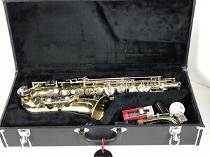 DernièRe Collection De Vintage Vega Saxophone Alto, Avec étui, Comme C'est Voir Photos-afficher Le Titre D'origine
