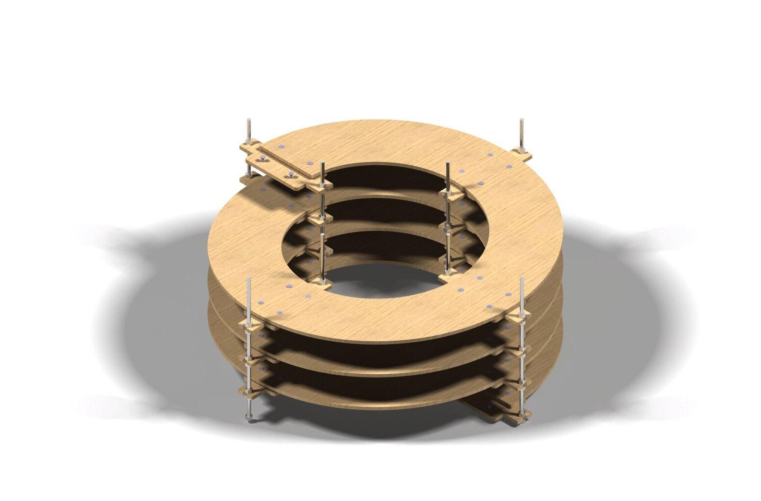 Binario Wendel Spur N, Traccia Z doppio binario, 3,5 giri CNC realizzato