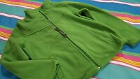 Effeci Creazioni Girls Women Top Zippered Jacket Jogger Shirt Size M Green Moss