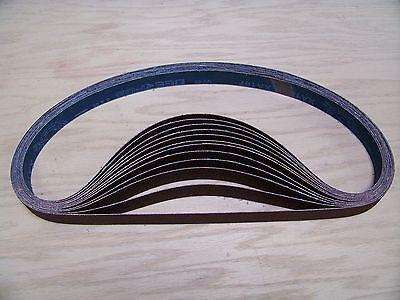 """PACK 150-GRIT 10 X-WEIGHT  SANDING  BELTS  1/"""" X 42/"""" PREMIUM  A//O"""