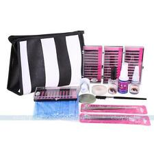 Semi Permanent Make Up Individual Eyelash Extension C Curl Glue Tool Kit Bag New