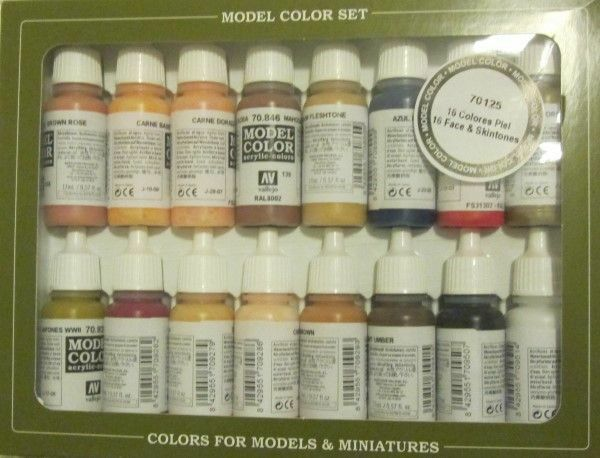 VAL70125  Model color Set - Face Skin Colours (x16) set of paints