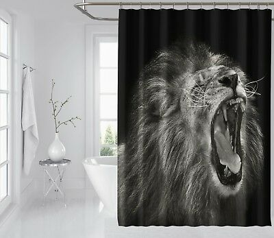 3d Brüllen Löwe 7 Duschvorhang Wasserdicht Faser Bad Daheim Windows Toilette De Shower Curtains Home & Garden