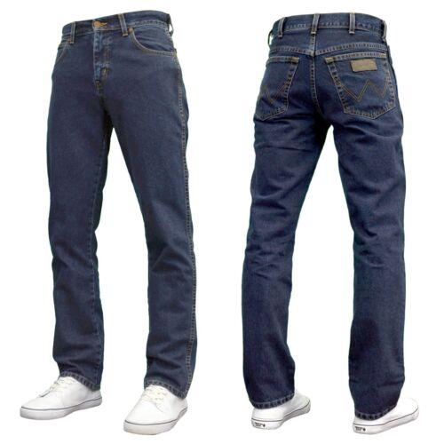 Wrangler men/'s designer texas regular fit coupe droite bleu noir bnwt