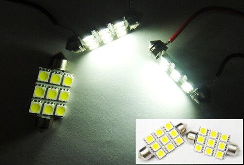 2x 578 211-2 White 9 SMD LED Interior Dome Light Festoon 42mm Bulbs For DODGE