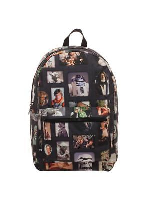 OFFICIAL STAR WARS - RETRO PICTURES COLLAGE BLACK BACKPACK BAG (NEW)