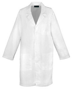 """Cherokee 40"""" Antimicrobial Unisex Lab Coat 1446A WHTD White Free Shipping"""