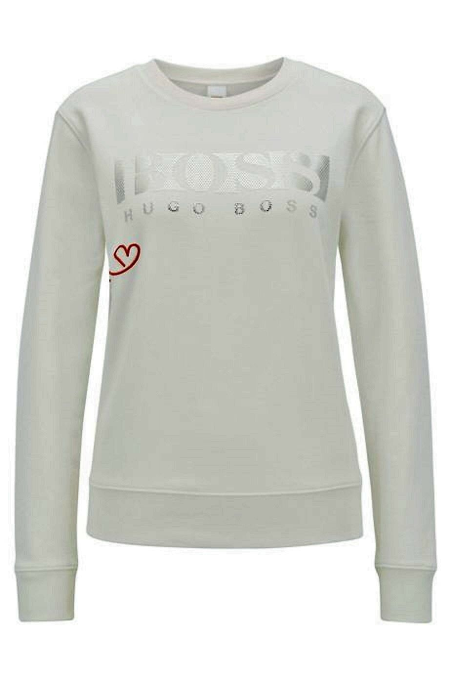 HUGO BOSS Sweatshirt in french terry logo three-dimensional Tacasual 50396083