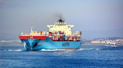 CARGO SHIP CONTAINER SHIP LANDSCAPE POSTER PRINT STYLE D 20x36 HI RES 9 MIL