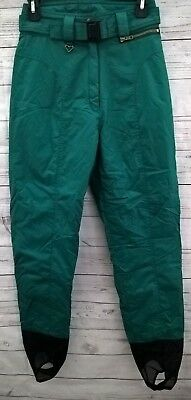 Clothing, Shoes & Accessories Women's Clothing Obermeyer Womens Stilleto Ski Stirrup Pants Size 6 Green Thermolite Insulation Good For Antipyretic And Throat Soother