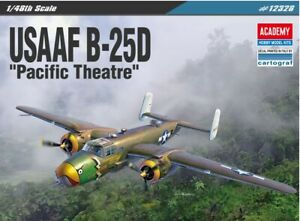 1-48-USAAF-B-25D-034-Pacific-Theatre-034-Academy-Model-Kit-12328