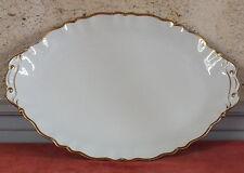plat ovale porcelaine Limoges filet doré