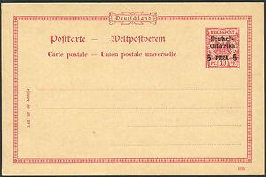 128-DOA-1895-Postkarte-10-Pf-Probeaufdruck-Type-VII-Ungebraucht-Tadellos-RAR