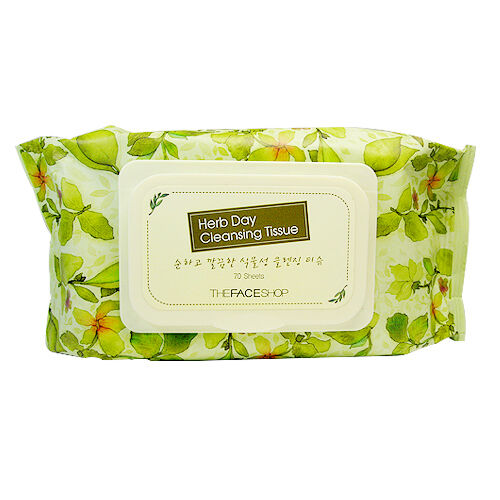 [The FACE Shop] Herb Day Cleansing Tissue 70