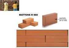 MATTONE ROSSO IN COTTO ALFA REFRATTARI cm 25x11x5,5 RIVESTIMENTO INTERNO/ESTERNO