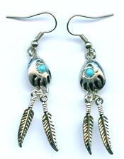 Ohrhänger Earrings Bearclaw Ohrringe Feder Indianer Western Indianerschmuck